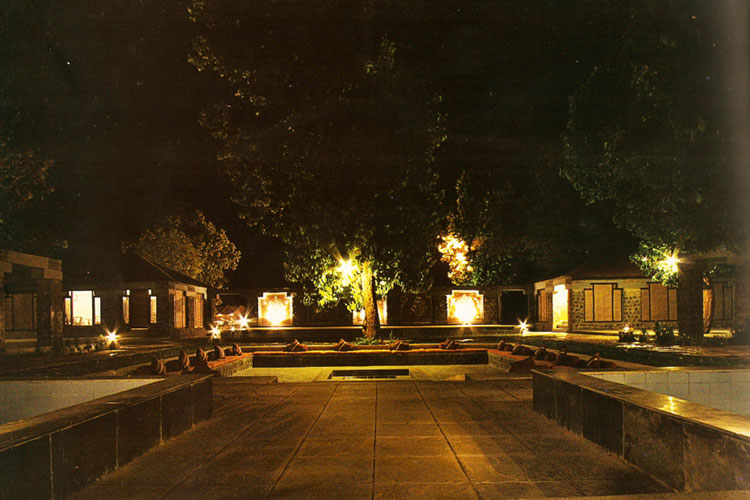 The courtyard at night - as found at the accommodation used on the NaturesLens Tigers of Bandhavgarh Photography Holiday