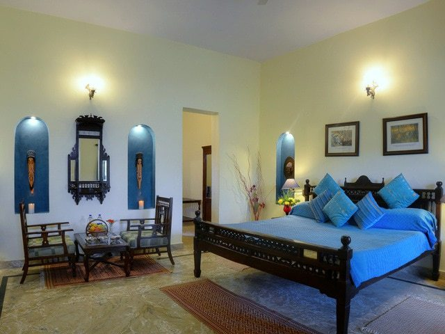 The type of room that our clients have the use of during the NaturesLens Tigers of Bandhavgarh Photography Holiday - no single supplement for single travellers