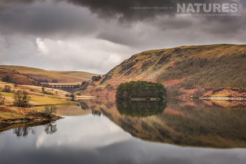 A picturesque reservoir & dam in the Elan Valley - typical of the type of image captured on the NaturesLens Mid-Wales Landscapes Photography Workshop