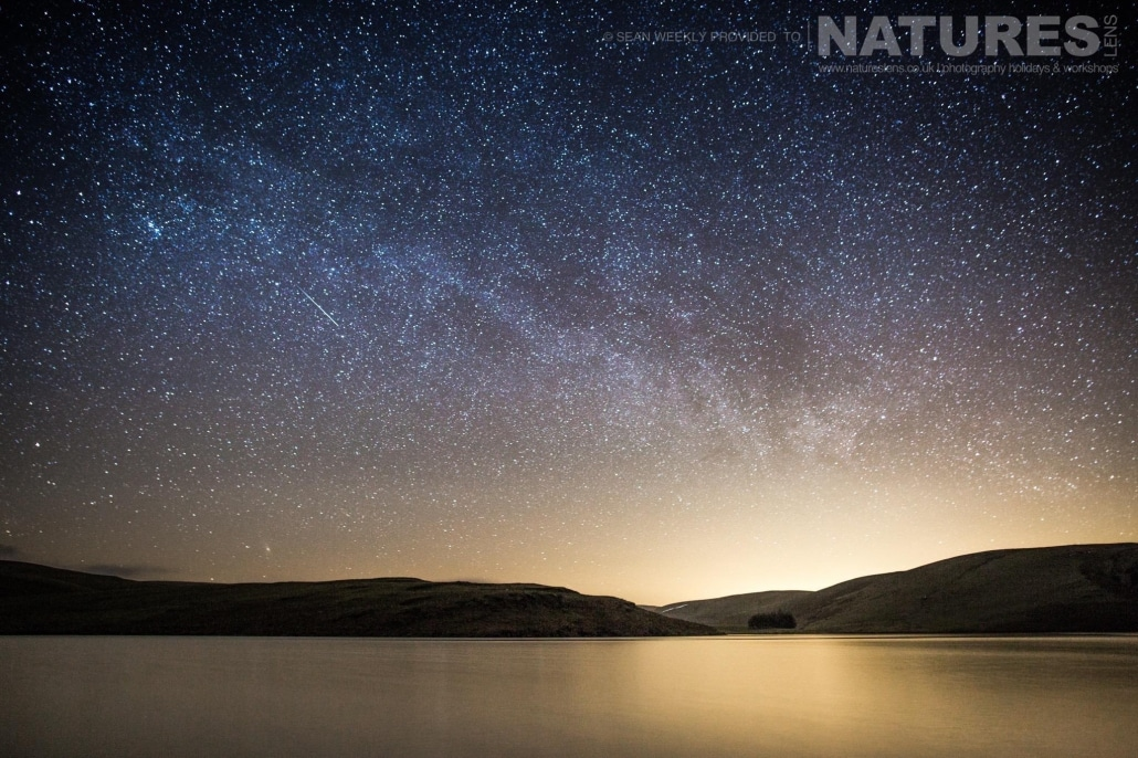 Astro photography in the Elan Valley - typical of the type of image captured on the NaturesLens Mid-Wales Landscapes Photography Workshop