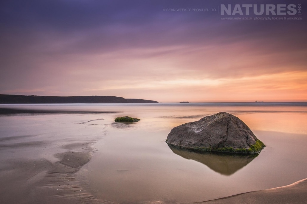 The splendour of the Pembrokeshire beaches in evening light - typical of the type of image captured on the NaturesLens Beachscapes of Pembrokeshire Photography Workshop