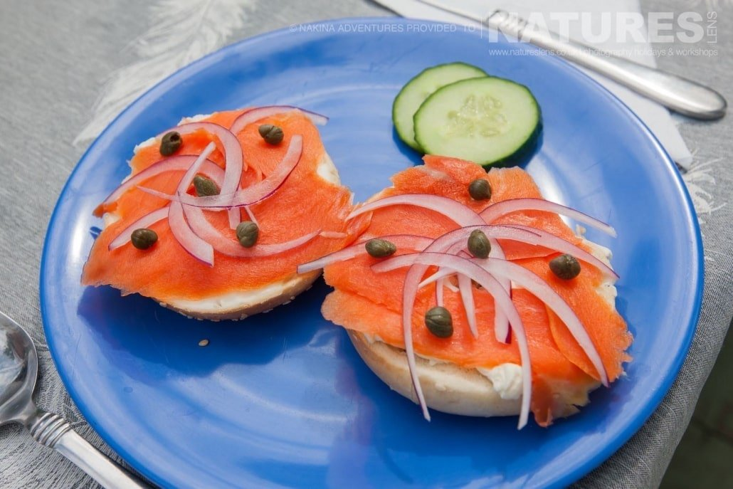 Freshly prepared salmon, just one of the meals that nature & the Taku river provides on the NaturesLens Grizzly Bears of British Columbia Photography Holiday