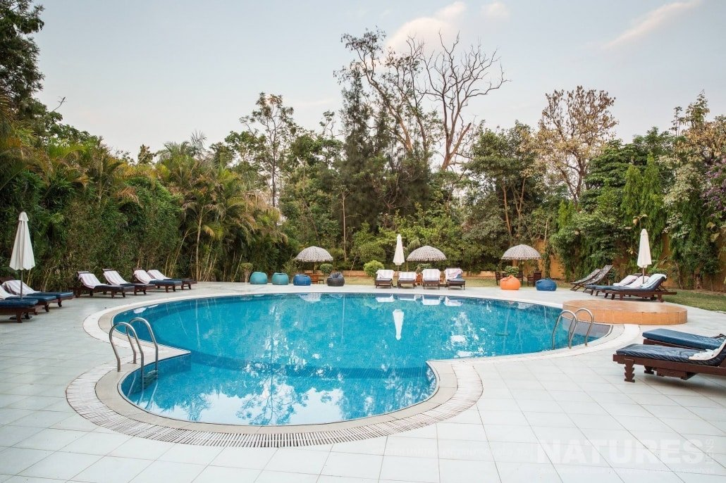 The lodge which stay at during the the NaturesLens Bengal Tigers of India Photography Holiday is luxurious and has a large pool during