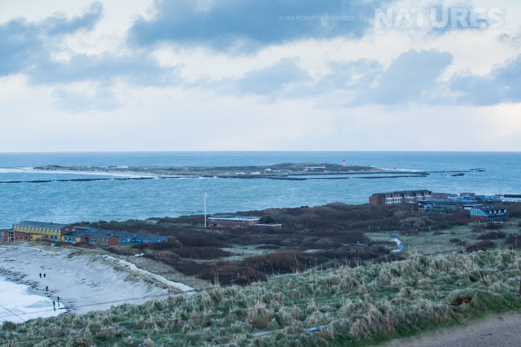 A view from upper Helgoland, across to Dune, the smaller island where the seals may be found