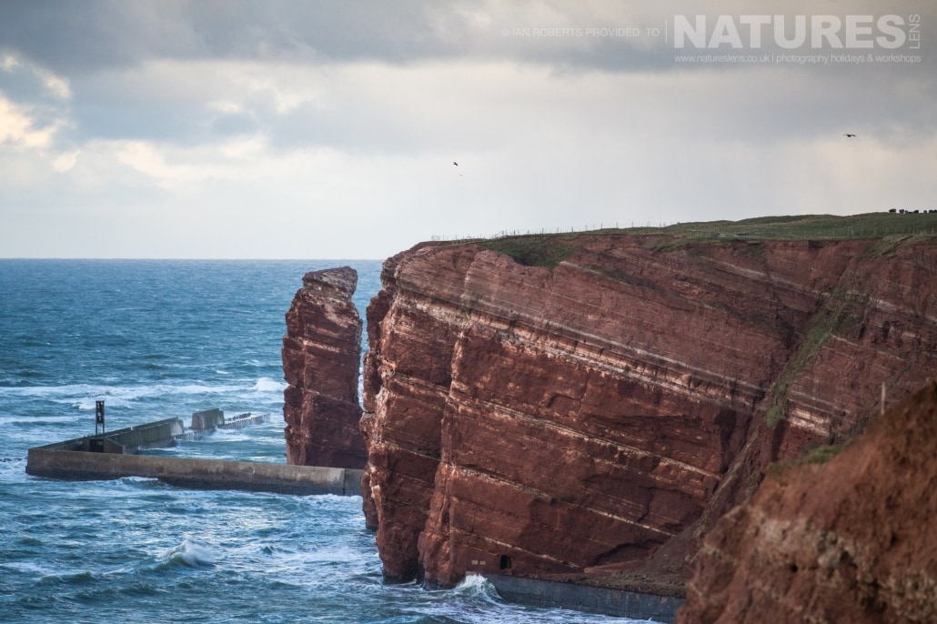 Helgoland's coastline is both dramatic and foreboding