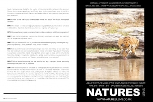Wildlife Photographic Often Features Articles From NaturesLens, Such As The Asking A Series Of Questions Of David