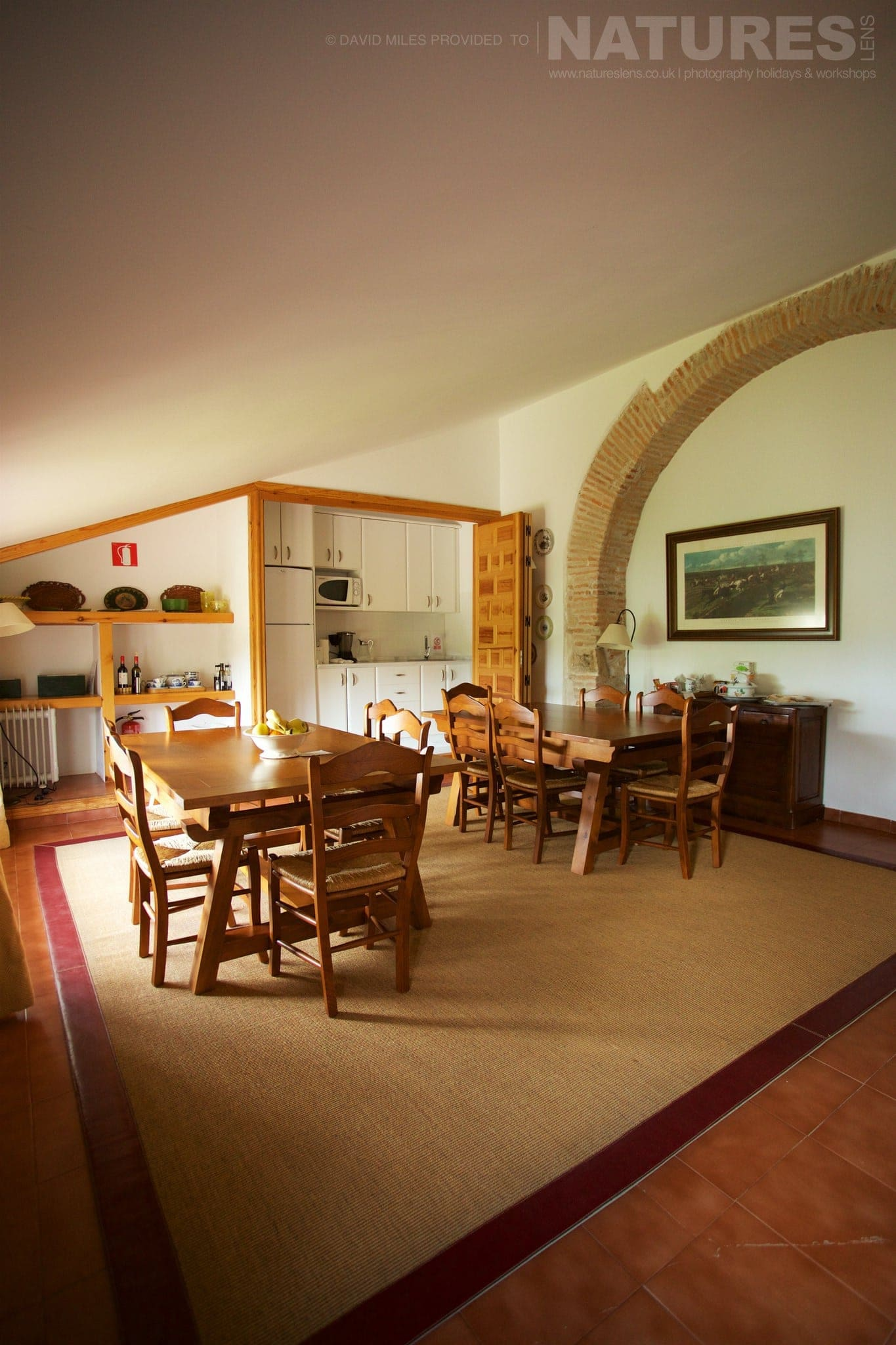 The Dining Area Of The Casa Which Is The Base For The Holiday Stay   Photographed On The Estate Used For The NaturesLens Eagles Of Extremadura Photography Holiday