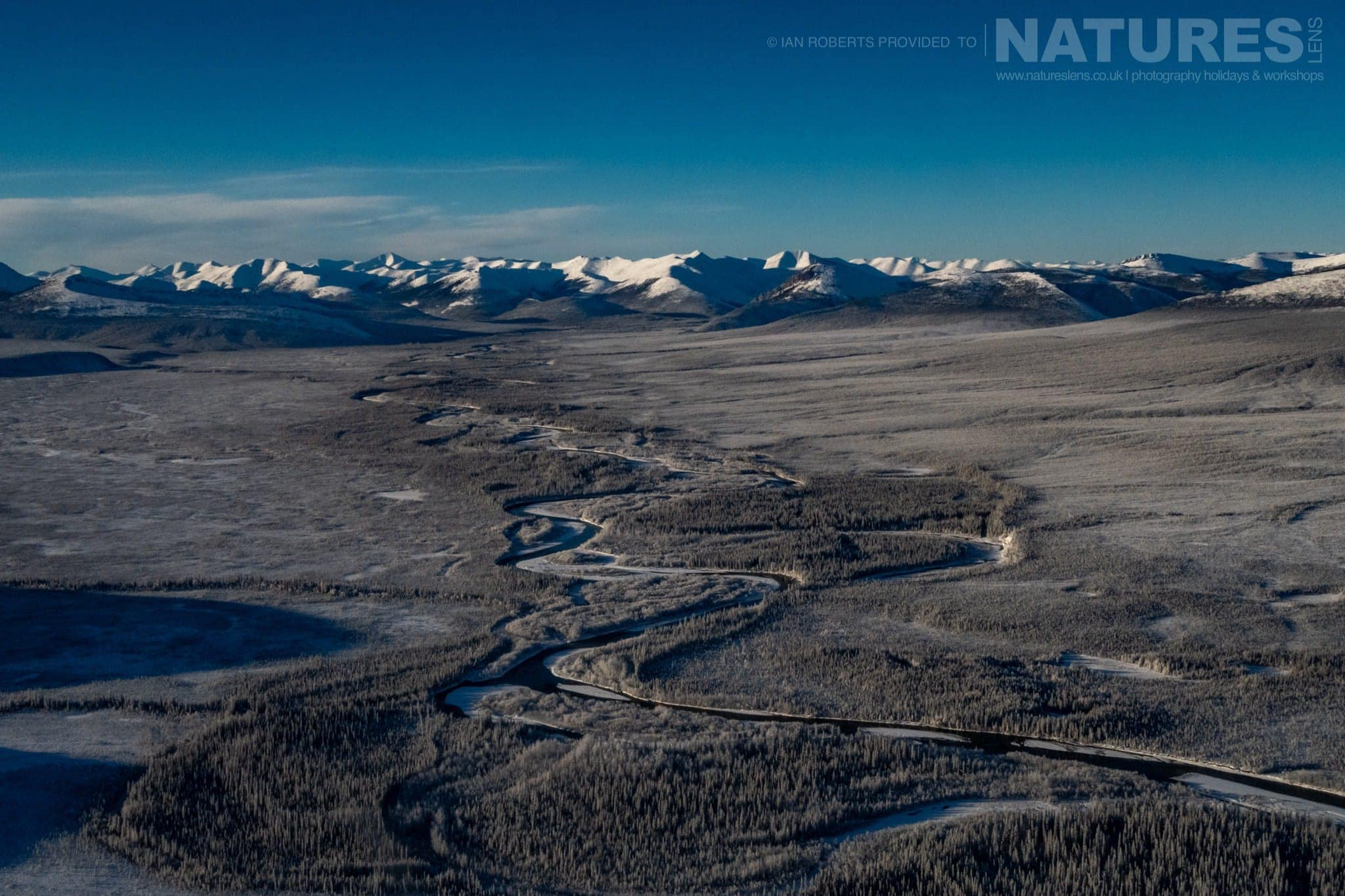 An Aerial View Of The Yukon Landscape   Captured During The Natureslens Ice Grizzlies Of The Yukon Photography Holiday
