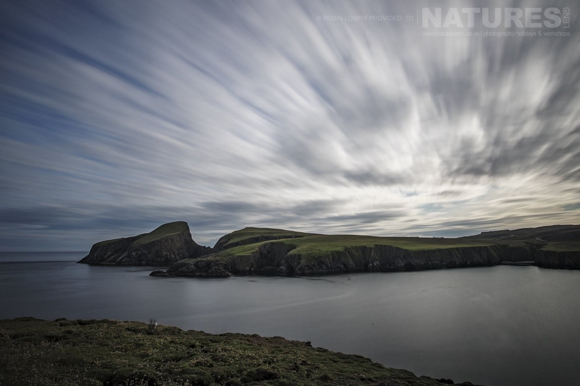 Dramatic skies over the headlands of Fair Isle photographed during the NaturesLens Shetlands Puffins of Fair isle Photography Holiday